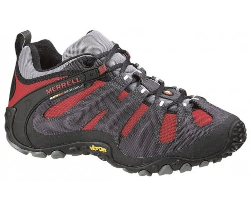 Merrell Men's Chameleon Wrap Slam Lace Up Charcoal/Red Trainer J86269 12.5 UK