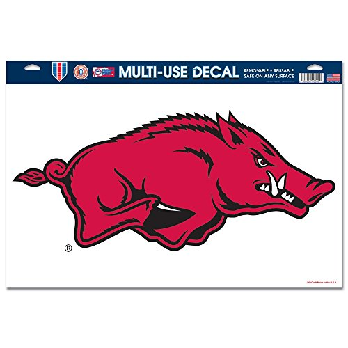 NCAA University of Arkansas 66279012 Multi Use Decal, 11 x 17