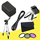 BP-819 Lithium Ion Replacement Battery w/External Rapid Charger + 58mm 3 Piece Filter Kit + Mini HDMI Cable + Full Size Tripod for Canon Vixia HFG10 XA10 HFS10 HFS20 HFS21 HFS30 HFS100 HFS200 Digital Camcorder DavisMAX BP819 Accessory Bundle discount price 2015