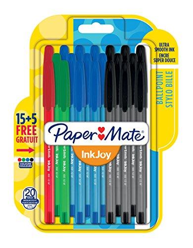 papermate-inkjoy-100-cap-boligrafos-de-10-mm-punta-mediana-con-tapa-color-colores-estandar-surtidos-