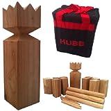 Viking Kubb Garden Game Hardwood in Canvas Bag