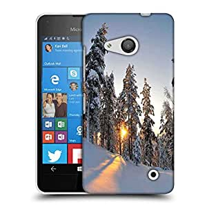 Snoogg Tall Snow Trees Designer Protective Phone Back Case Cover For Nokia Lumia 550