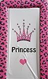 changing mat Crown Princess with Fuschia Leopard Print Crown Princess with Fuschia