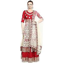 Triveni Art Silk Lehenga Choli (TSABR105_Red)