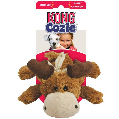 KONG Cozie Marvin the Moose, Medium Dog Toy, Brown