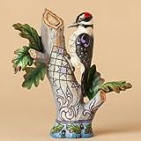 "Jim Shore Woodpecker on Branch ""Knock on Wood"" Figurine 5.75""H"