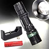 2xcree 2000 Lumen Tactical XML T6 LED Flashlight Zoomable+18650 Battery+charger
