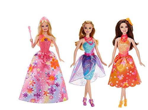 Barbie und die geheime Tür - Prinzessin Alexa mit Musik CCF84 + Freundin blond BLP30 + Freundin brünett BLP29 (EAN9009588009352)