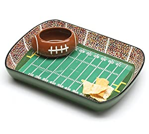 Football Stadium Chip And Dip Serving Set Great For Parties and Kitchen Decor by Burton & Burton