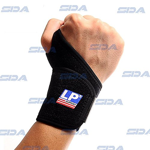 SDA supporto per polso in neoprene con passante per pollice di compressione regolabile Lesioni strappi velcro da LP, Tunnel Carpale, per protezione da polso-Comune-Artrite calore Bandage