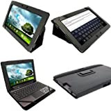 "iGadgitz Black 'Portfolio' PU Leather Case Cover for Asus Transformer Pad & Keyboard Dock TF700 TF700T TF700KL Infinity 10.1"" Android Tablet (NOT SUITABLE FOR TF701T)"