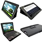 iGadgitz Black 'Portfolio' PU Leather Case Cover for Asus Transformer Pad & Keyboard Dock TF700 TF700T TF700KL Infinity 10.1 Android Tablet (NOT SUITABLE FOR TF701T)