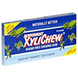 XyliChew Sugar Free Chewing Gum, Peppermint, 12-Count Packages (Pack of 24) ~ Xylichew