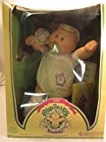 Vintage 1983 The Official Cabbage Patch Kids Preemie Caucausian Blonde Blue Eyes Doll Yellow Outfit