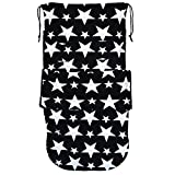 Universal Snuggle Footmuff To Fit Bugaboo Buggy Black White Stars
