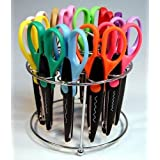 Strokes Office Supplies 12 Paper Edger Scissors with Organizer Stand! Great for Teachers, Crafts, Scrapbooking (SBA5115) (Limited Edition) (Color: Limited Edition)