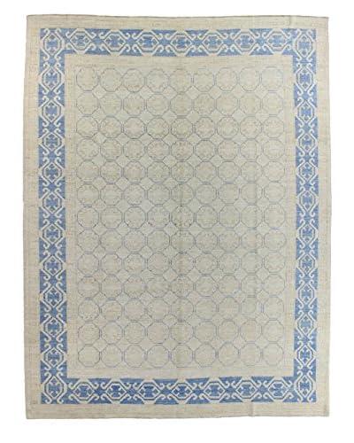 Bashian Rugs One-of-a-Kind Hand Knotted Kotan Rug, Ivory, 8' 10 x 11' 6