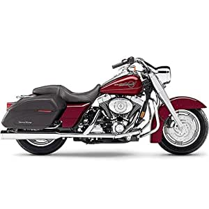 Straight Cut Chrome Mufflers with Billet Tips for Harley D: Automotive