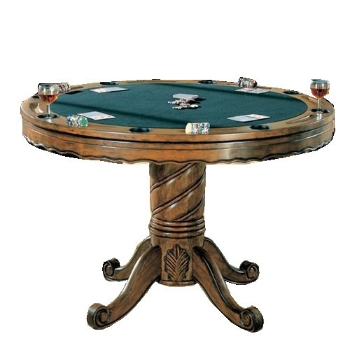 What 39 s the best coaster turk 3 in 1 round pedestal game for Circular pool table