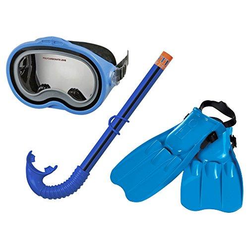Intex 55952 - Maschera con Pinne e Boccaglio Swim Set Master, Blu