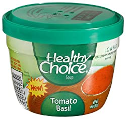 Healthy Choice Soup Tomato Basil, 14-Ounce Cups (Pack of 12)