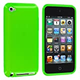 Green Plain TPU Rubber Skin Case Cover for iPod Touch 4th Generation 4G 4