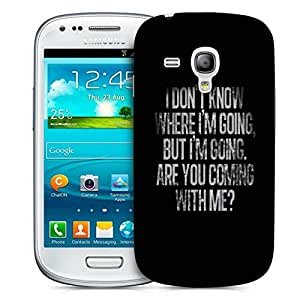 Snoogg Are You Coming ? Designer Protective Back Case Cover For Samsung Galaxy S3 Mini
