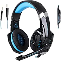 KOTION EACH G9000 3.5mm Headband Computer Gaming Headset PS4 Microphone LED Light