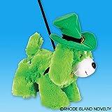 Dozen Green Irish St. Patricks Day St. Patty s Stuffed Animal Plush Dog With Leash