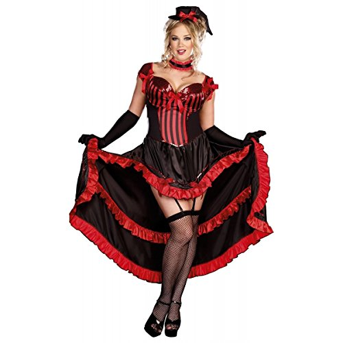 [GSG Moulin Rouge Costumes Can-Can Dancer Burlesque Saloon Girl Halloween Dress] (High Priest Zombie Costumes)
