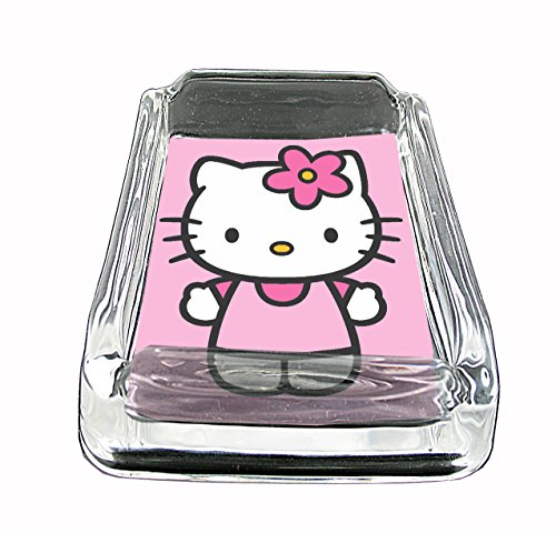 Hello Kitty Glass Square Ashtray