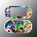 Avengers Hulk Captain America Video Game Vinyl Decal Sticker Cover Skin Protector Sony Playstation PS Vita Slim PCH 2000 2001 2002 2003 Console System