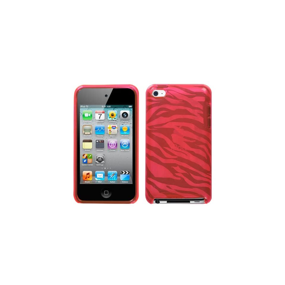 Apple iPod Touch 4 4G Pink Zebra Skin Candy Skin Case Cover Protector