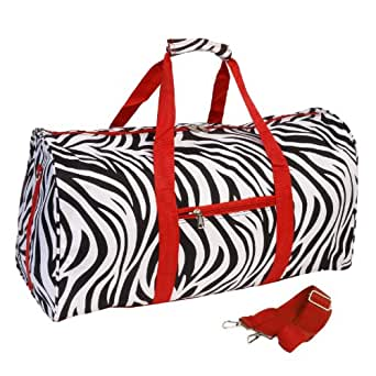 World Traveler Red Zebra Gym Duffle Bag