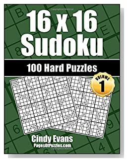 16×16 Sudoku Hard Puzzle Book – Volume 1 – Pages of Puzzles