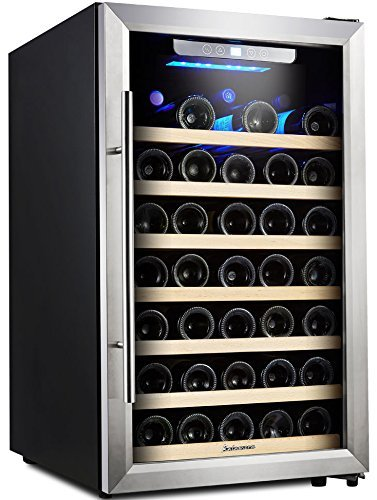 Kalamera 50 Bottle Compressor Wine Refrigerator Single Zone with Touch Control (Iron Wine Cellar Doors compare prices)