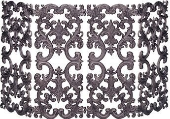 Import S-5804 4-Fold Screen - Bronze Cast Aluminum  oasis henry 5804