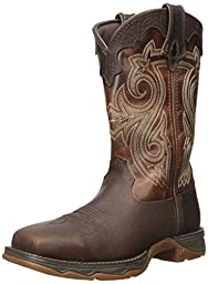 Durango Women\'s Lady Rebel Steel Toe Cowgirl Boot Square Brown 6.5 D(M) US
