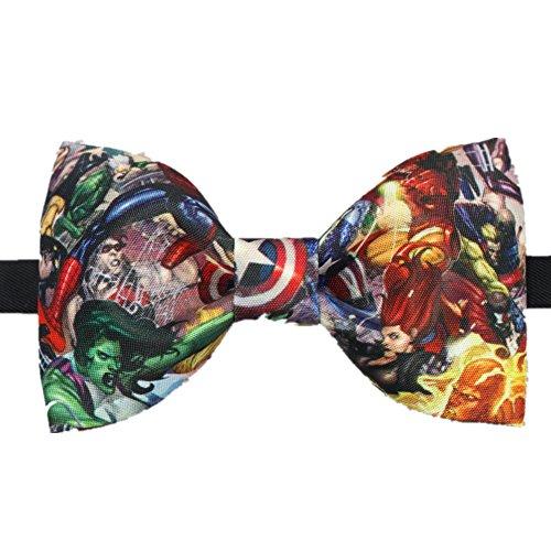 Spiderman Captain America Novelty Bow Tie Colorful Necktie Gift Superheros (Bow Tie Captain America compare prices)