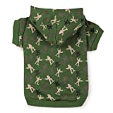 Zack & Zoey Polyester/Cotton Special Ops Dog Hoodie, Small/Medium, Army Green