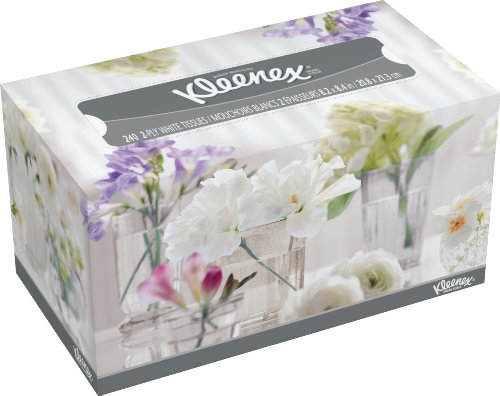 Kleenex Facial Tissue, White, 240-Count (Pack of 18)