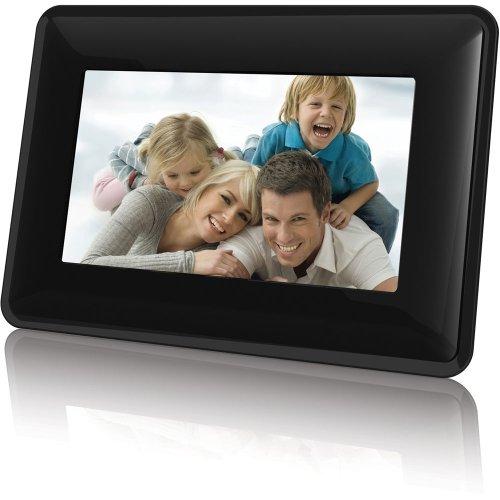 Coby Electronics DP730BLK 7-Inch Widescreen Digital Photo Frame, Contemporary Design