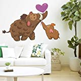Rawpockets Cartoon Elephants Love Wall Sticker