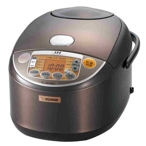 [1] Bushel Cook Rice Cooker Zojirushi Ih Brown Np-Vc18-Ta back-637003