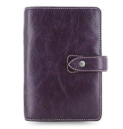 2016 Filofax Malden Leather Personal Purple Organizer Agenda Diary Calendar with DiLoro Jot Pad Refill  025850