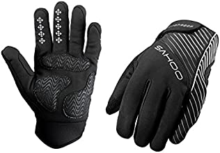 Weanasreg Bike Bicycle Men Winter Full Finger Cycling Gloves Windproof Warmth Attractive for Outdoor