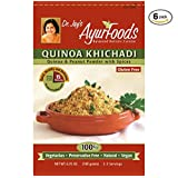 Dr. Jay's Ayurfoods Quinoa Khichadi 6 Pack, with Tasty Indian Spices for Health, BEST Gluten FREE Quinoa Mix for Paleo, Vegan and Vegetarian Meals, Made in USA with non-GMO ingredients
