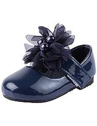Doink Kids Girls My First Bally Shoes - Navy