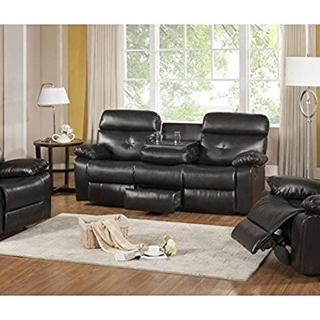 Primo International Roquette Contemporary Motion Reclining Sofa, Dark Brown