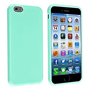 EVERMARKET(TM) Mint Green TPU Rubber Skin Case Cover for Apple iPhone 6 Plus 5.5 inch